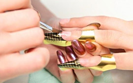 nail extensions using forms, foto